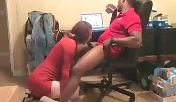 Horny amateur big tits interracial blonde sex clip