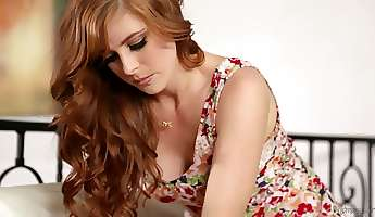 Quite buxom red haired lesbian Penny Pax is ready for some facesitting