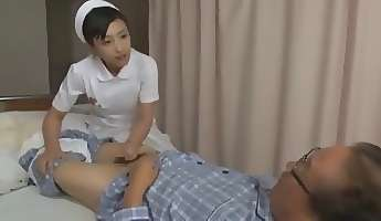 Three Nurses Give Old Man Sexual Health Care