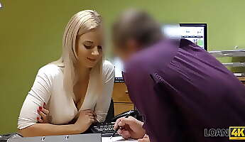 LOAN4K Seductive girl can close debts only if she fucks loan agent